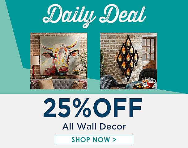 Daily Deal, Now extended through Saturday, 25% Off All for the Wall - Shop Now