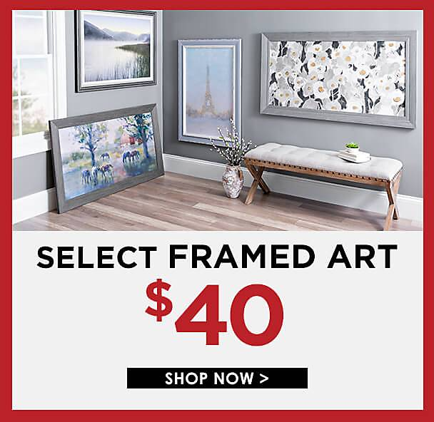 Semi-Annual Sale - Select Framed Art Now $40 - Shop Now