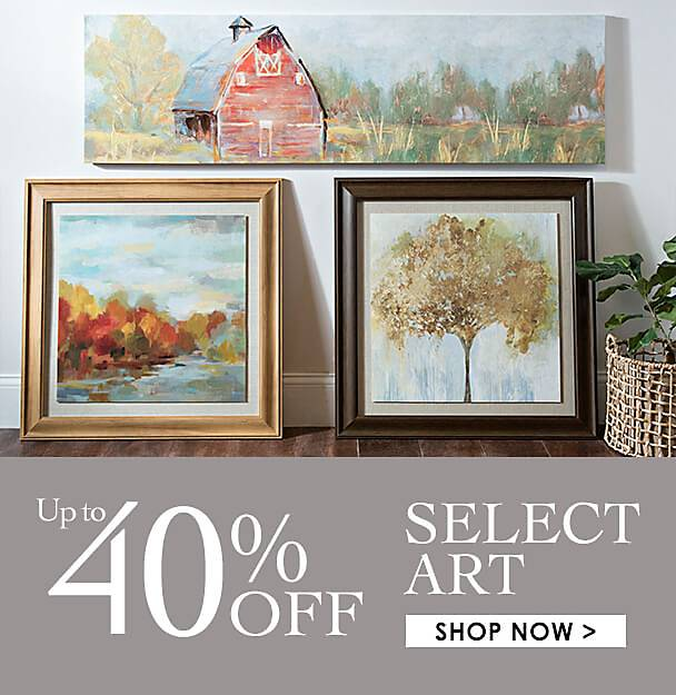 Up to 40% Off Select Wall Art - Shop Now