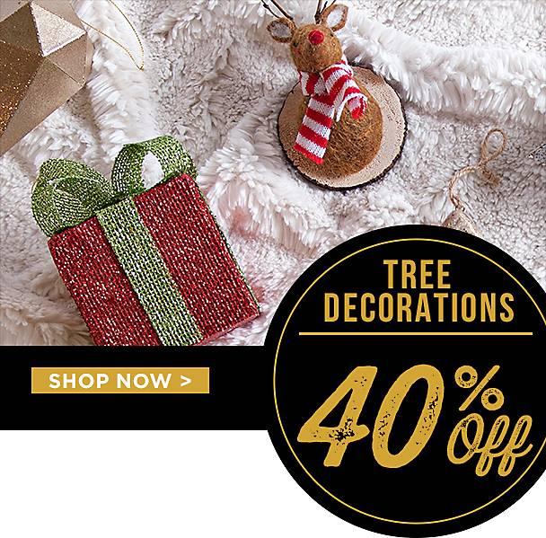 40% Off Tree Decor - Shop Now