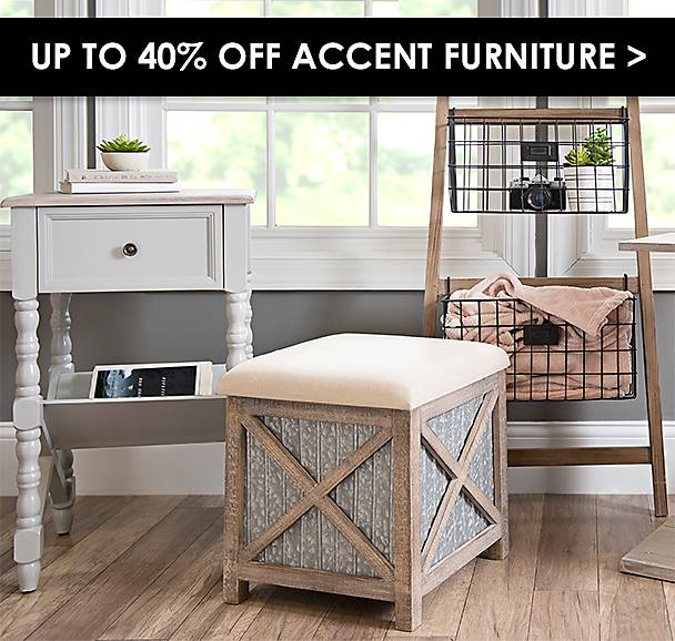 Up to 40% Off Accent Furniture - Shop Now
