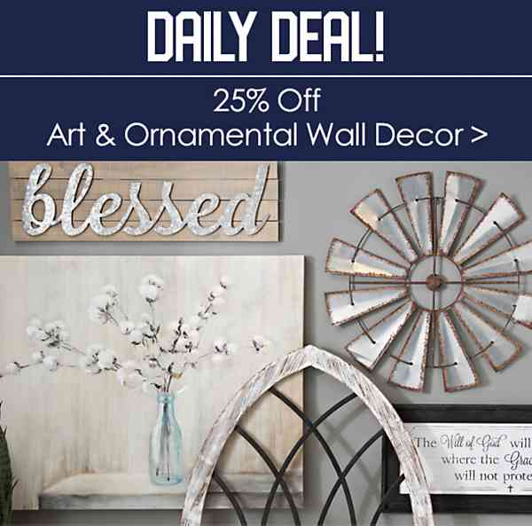 25% off All Art and Ornamental Wall Decor - Shop Now
