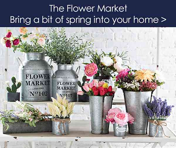 Flower Market - Bring a bit of spring into your home - Shop Now