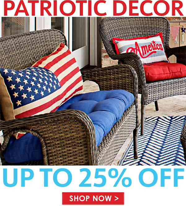Up to 25% off Patriotic Decor - Shop Now