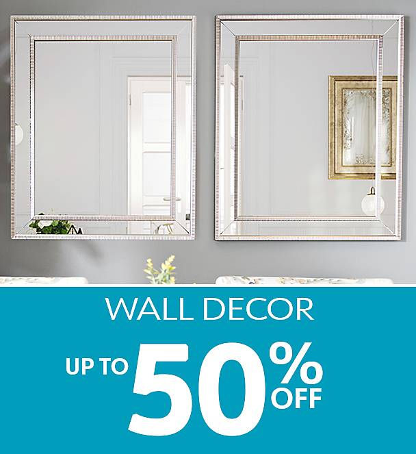 Up to 50% Off Wall Decor - Shop Now