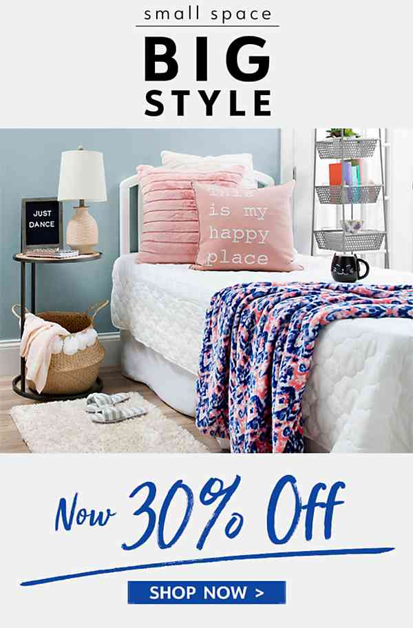 Small Space, Big Style - 30% Off - Shop Now
