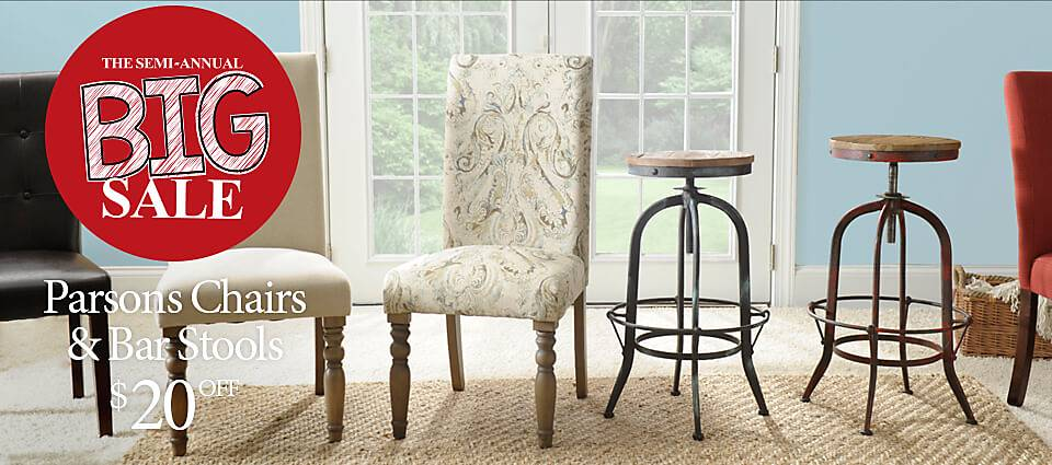 20 OFF Parsons Chairs Bar Stools