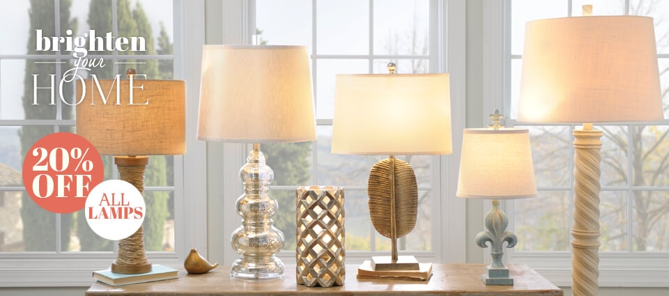 20% OFF All Lamps