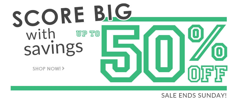 Savings up to 50% OFF!