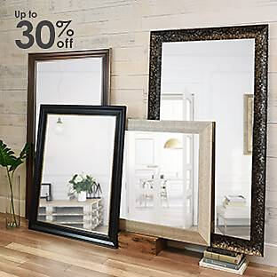 A selection of framed mirrors