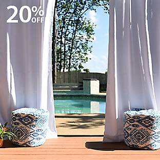 20% OFF Outdoor Poufs