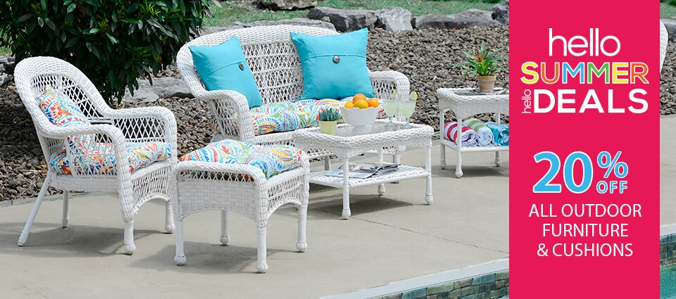 20% Off all Outdoor Furniture & Cousions