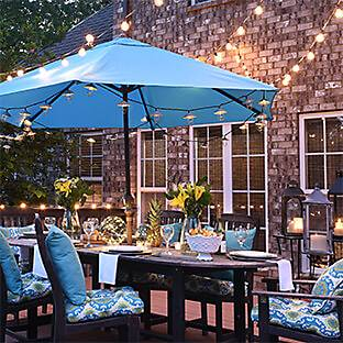 Golly, Look at all the outdoor patio lights!