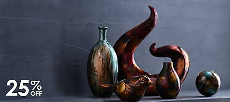 Color Infused Glass Vases and Art