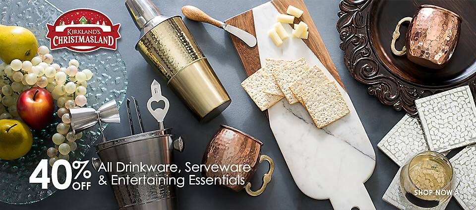 40% Off All Drinkware, Serveware, & Entertaining Essentials - Shop Now