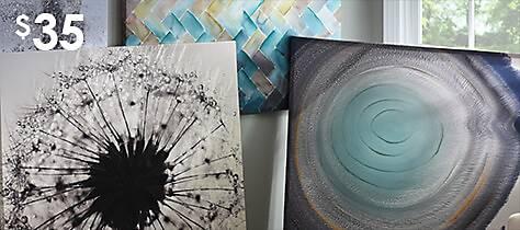 A unique selection of canvas art prints