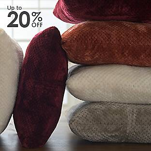 A colorful selection of throw pillows