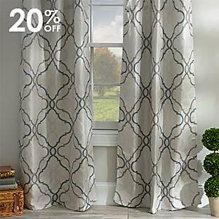 Embossed Black Pearl Curtain Panel Set
