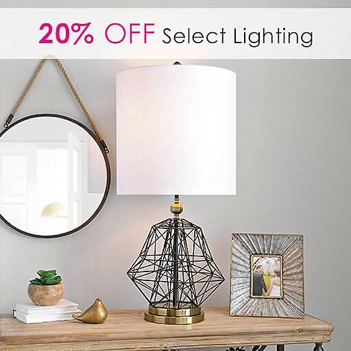 20% Off Select Lighting