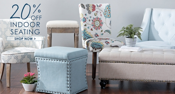 20% Off All Indoor Seating - Shop Now