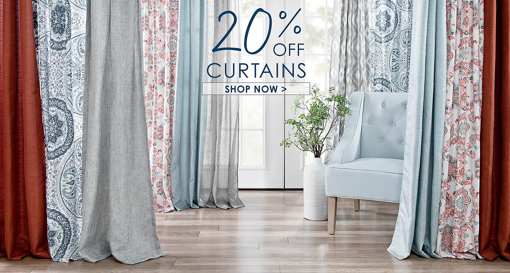 20% Off Curtains - Shop Now