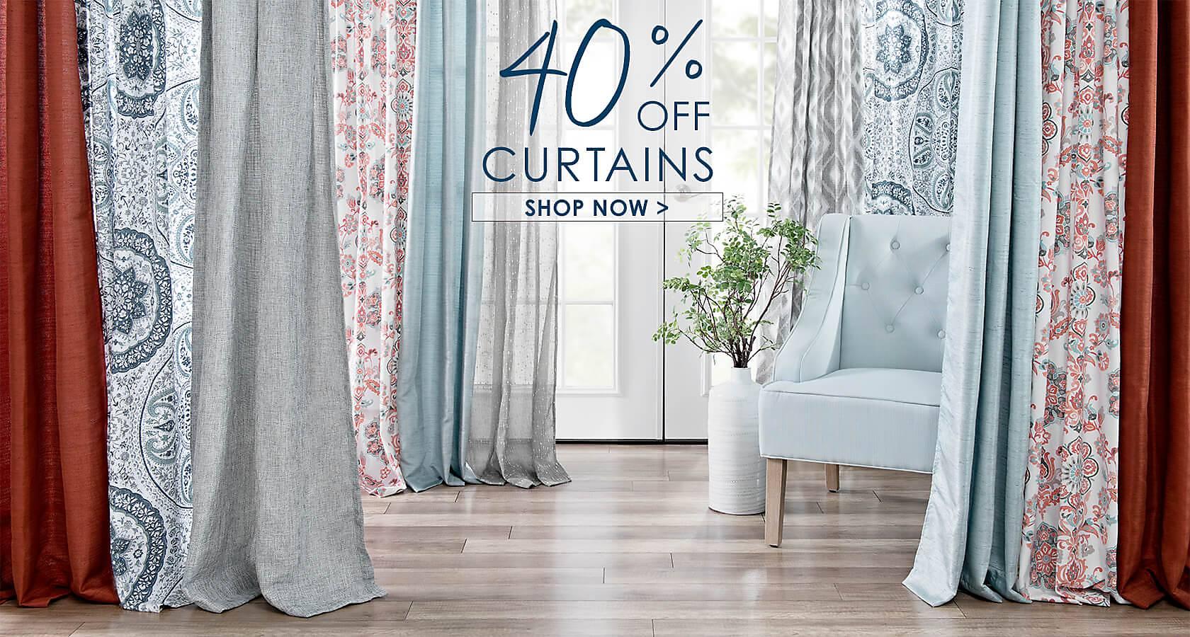 40% Off Curtains - Shop Now