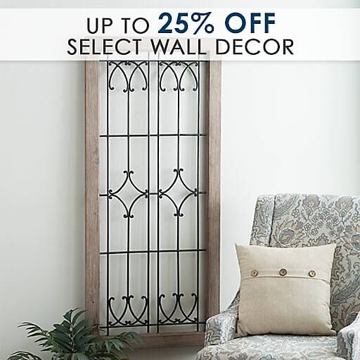 Up to 25% Off Select Wall Decor