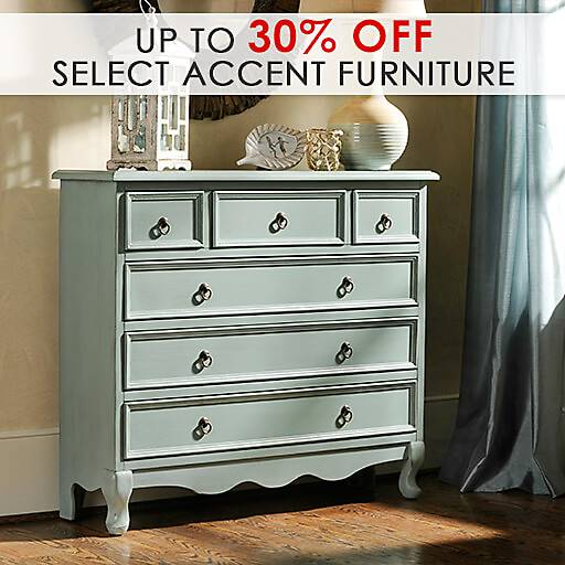 Up to 30% off Select Accent Furniture