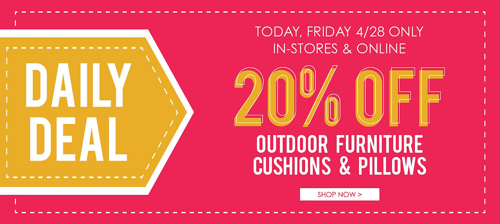 20% Off Outdoor Furniture, Cushions, & Pillows - Shop Now