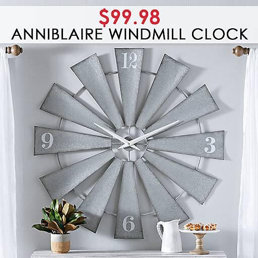 Anniblaire Windmill Clock $99.98