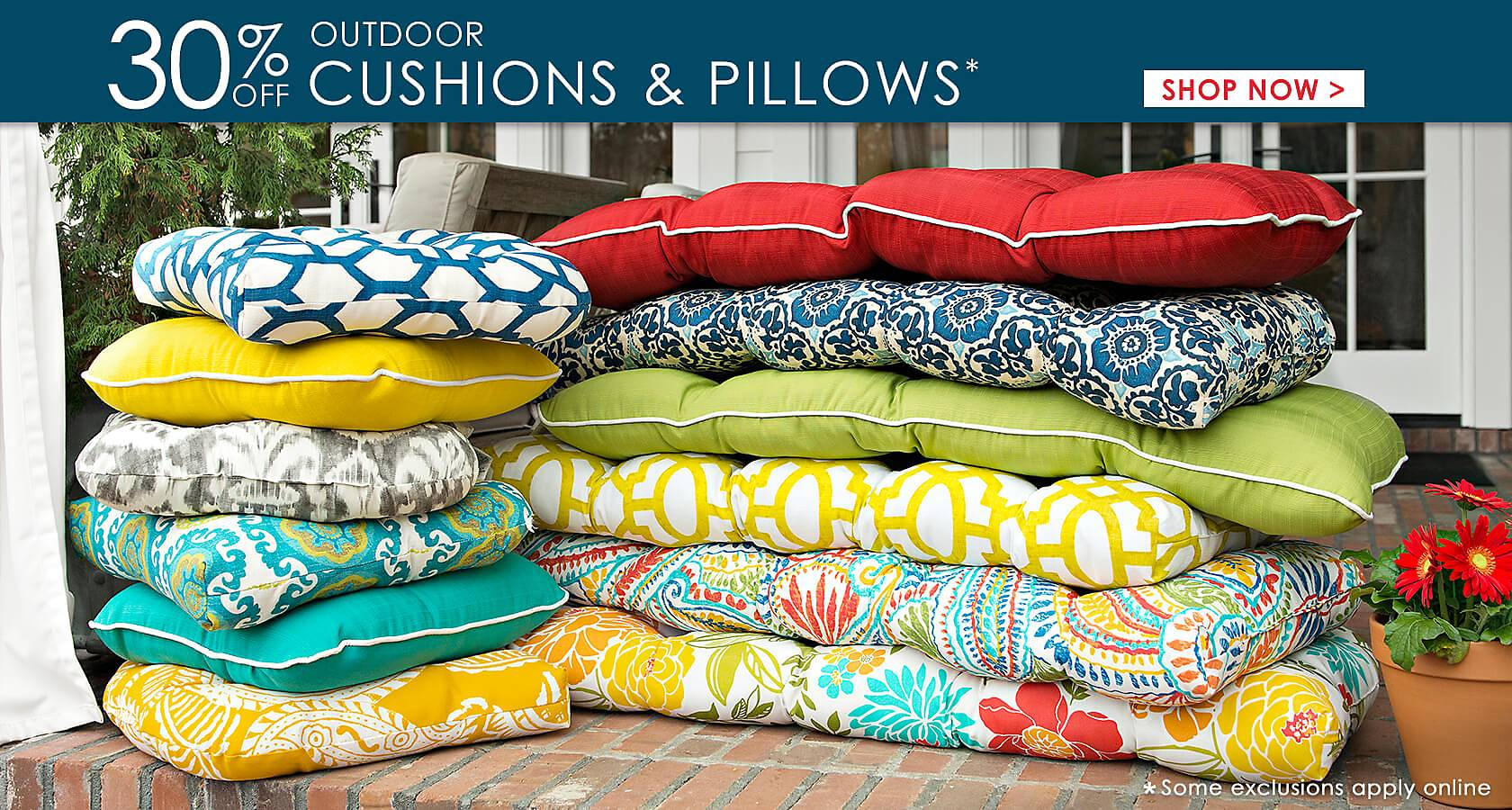 30% Off Outdoor Cushions & Pillows - Shop Now