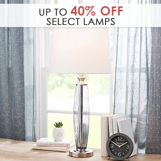 Up to 40% Off Select Lamps