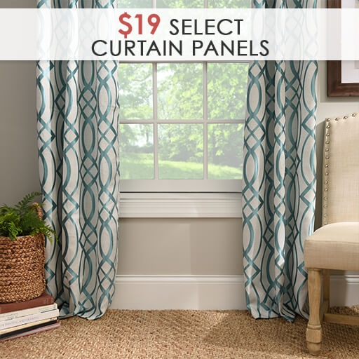 Select Curtain Panels $19