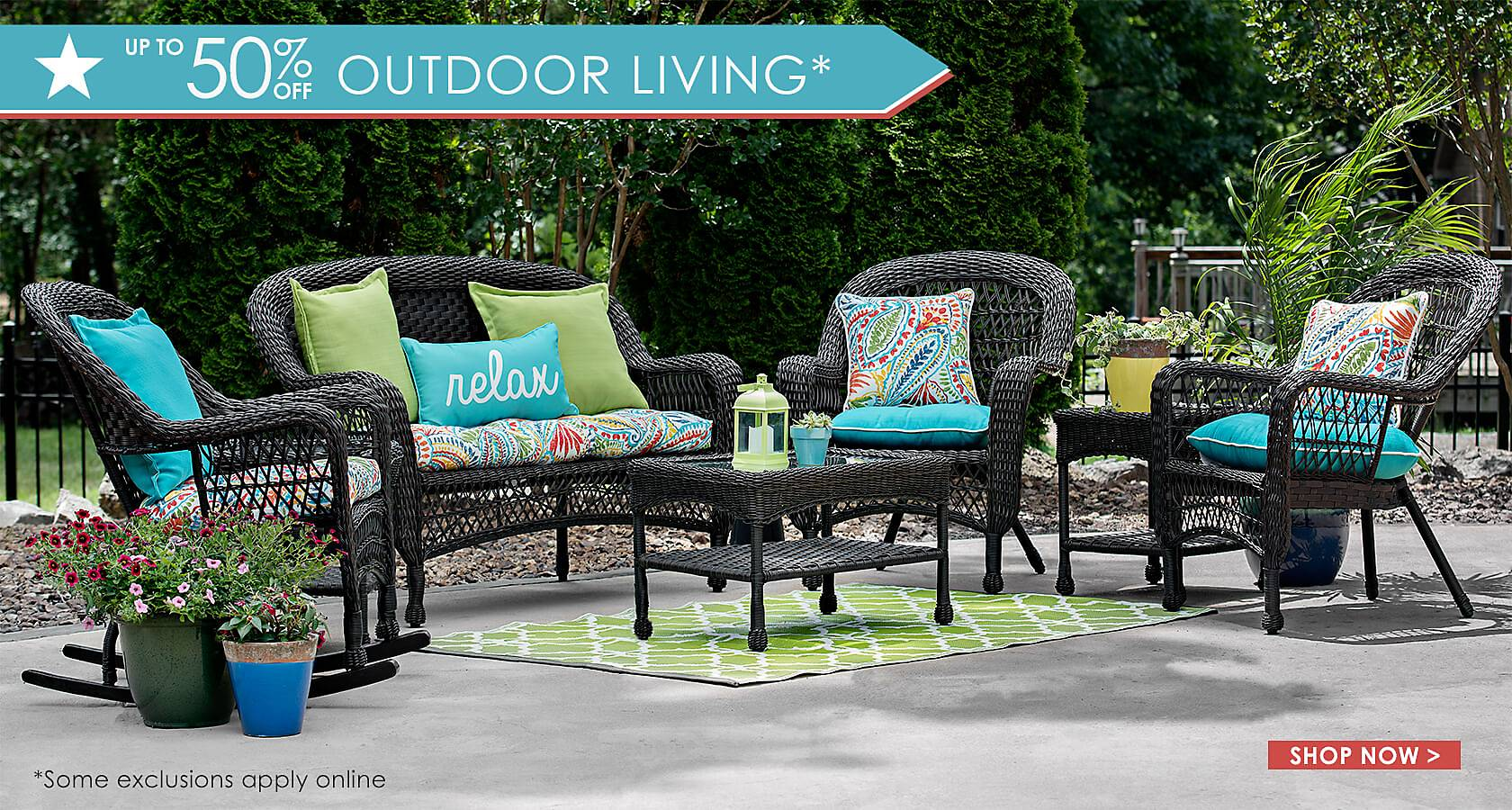 Up to 50% Off Outdoor Living - Shop Now
