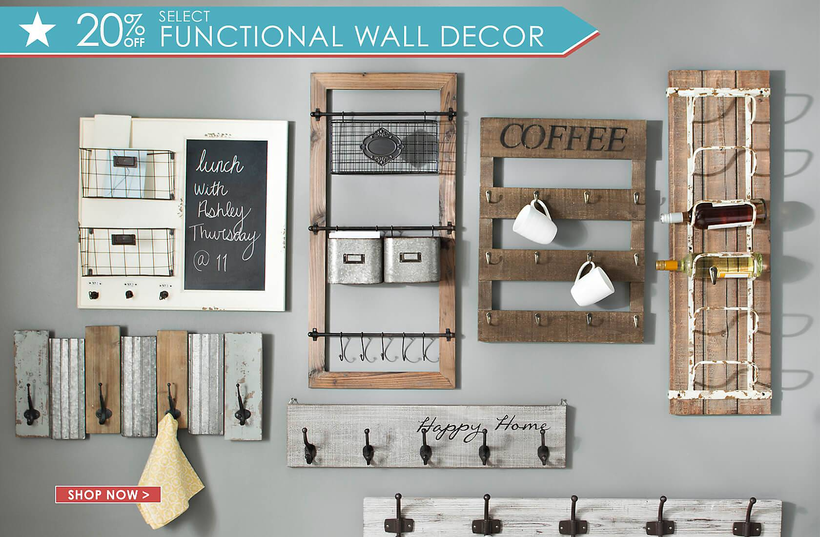20% Off Select Functional Wall Decor - Shop Now
