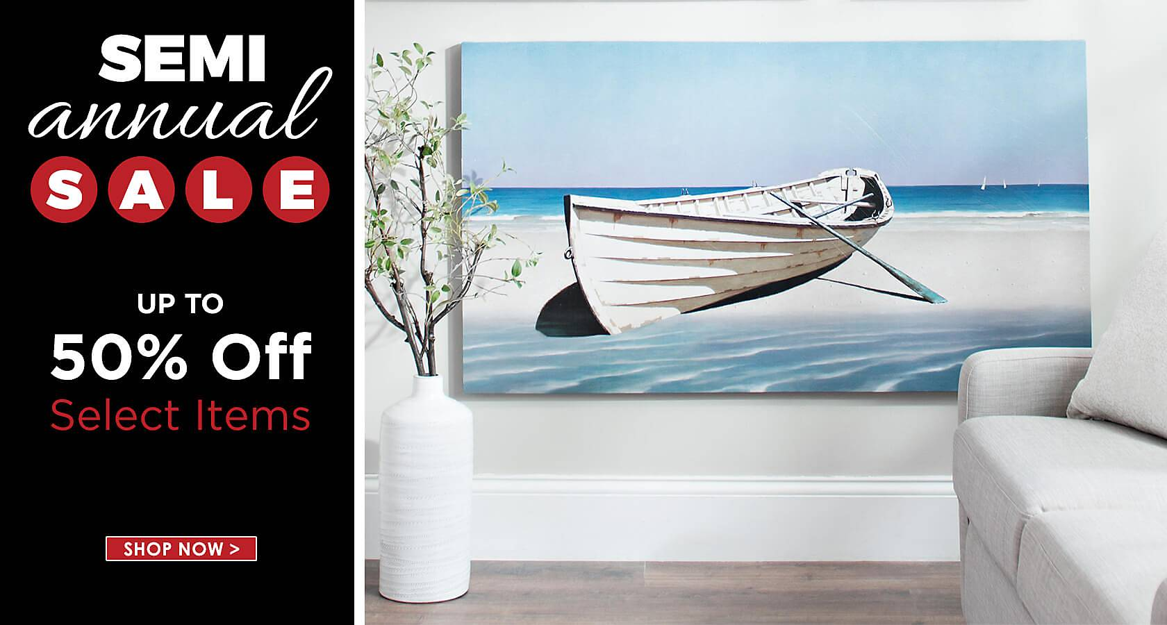 Semi Annual Sale Save Up To 50 Off Select Items Shop Now