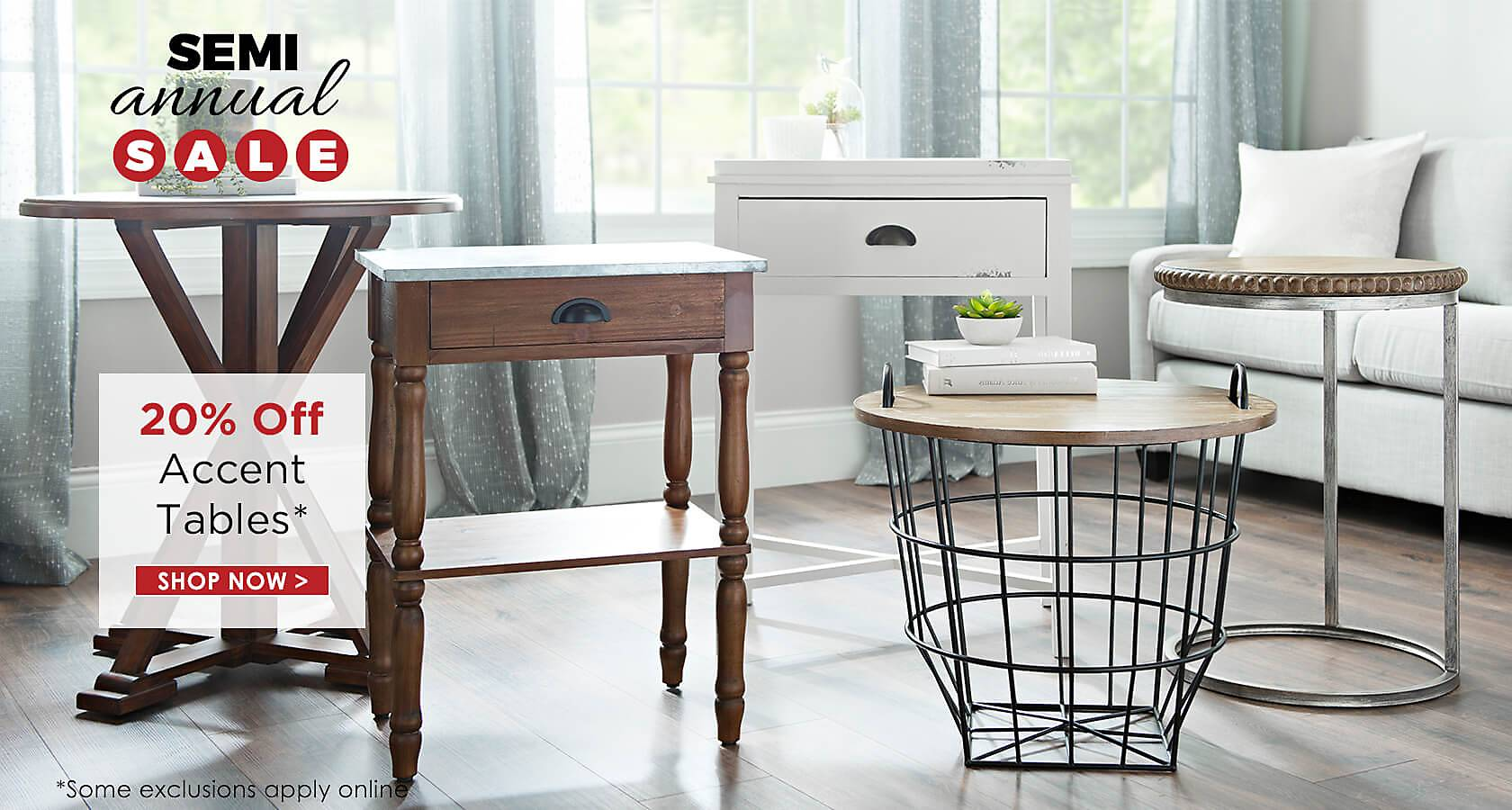 20% Off Accent Tables - Shop Now