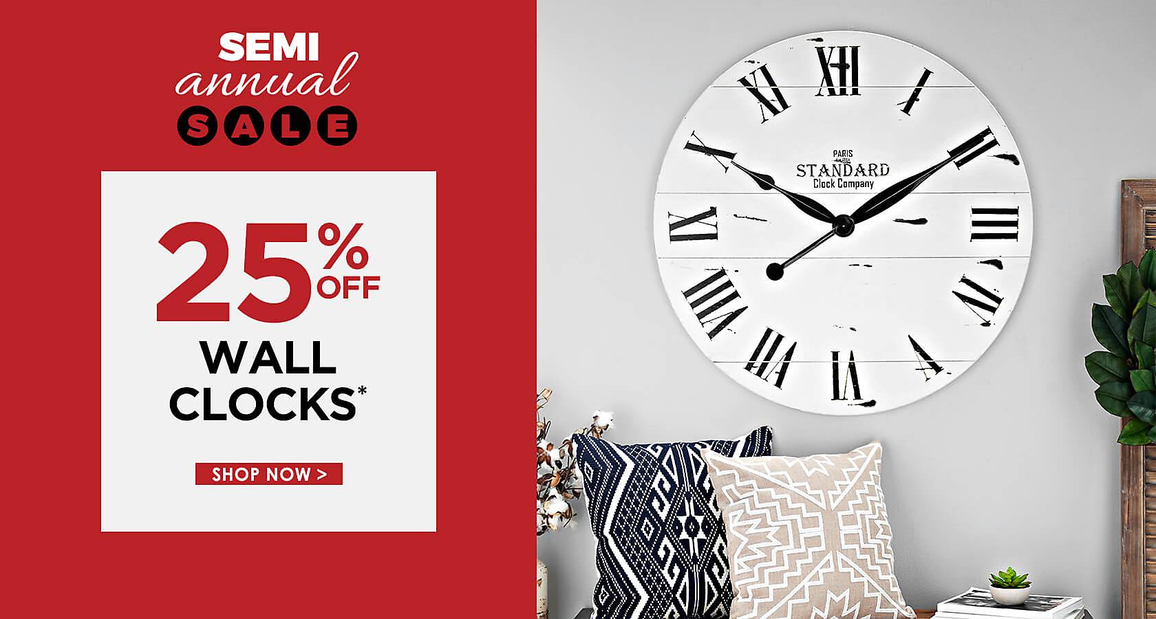25% Off Wall Clocks - Some exclusions apply online - Shop Now