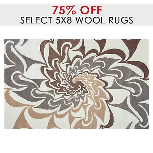 75% Off Select 5x8 Wool Rugs