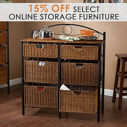 15% off Select Online Storage Furniture