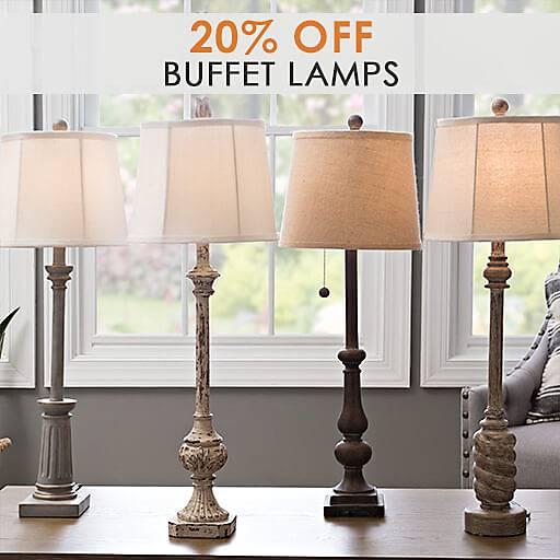 20% Off Buffet Lamps