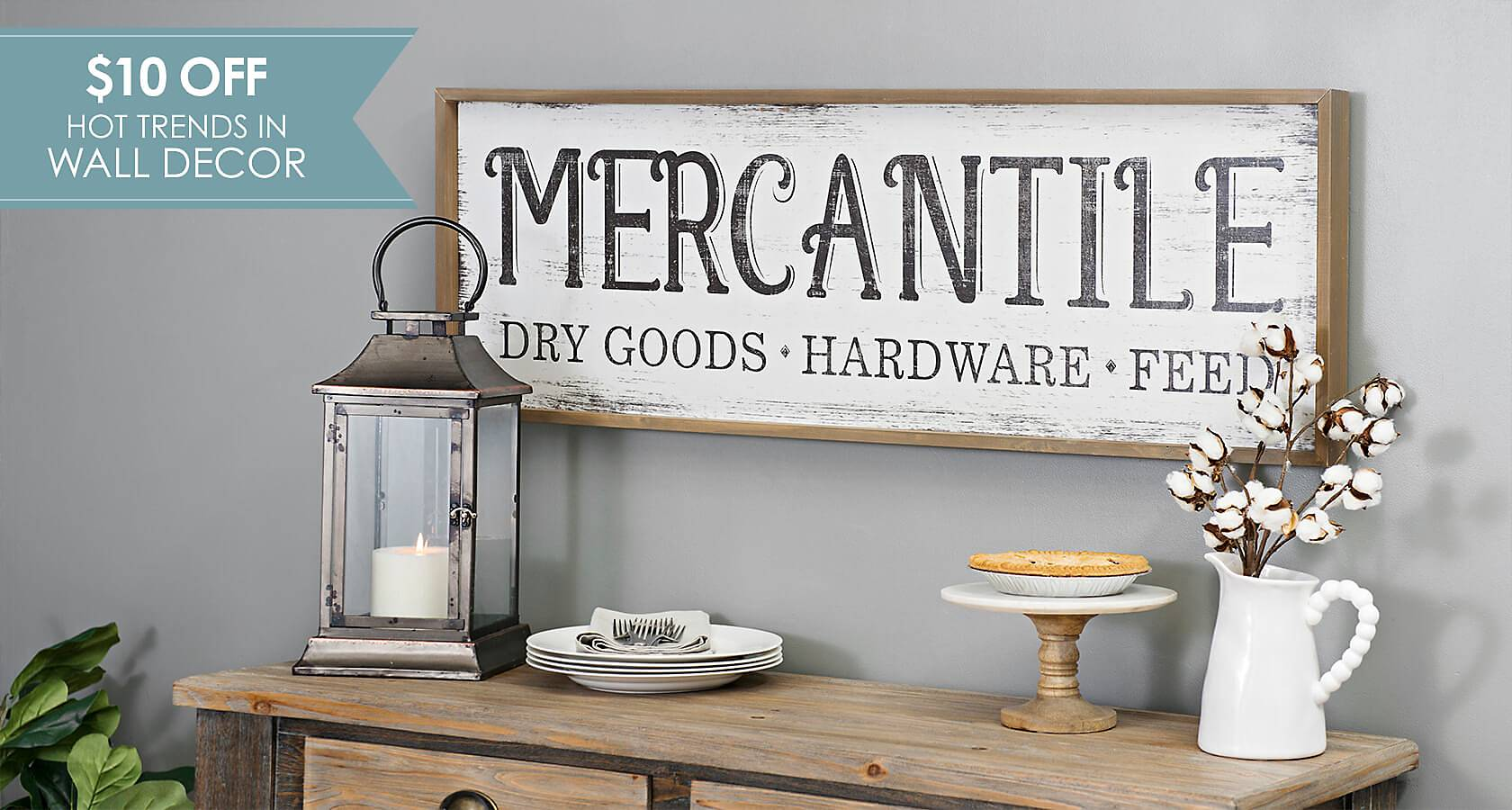 $10 Off Hot Trends in Wall Decor - Shop Now