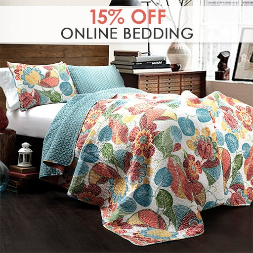 Online Only: 15% Off Bedding