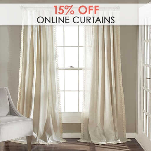 Online Only: 15% Off Curtains