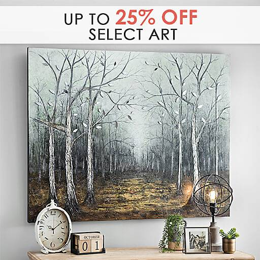 Up to 25% Off Select Art