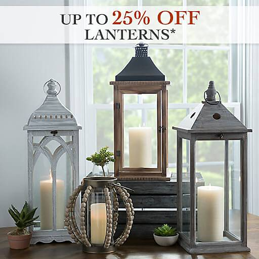Up to 25% Off Lanterns - Some exclusions apply online