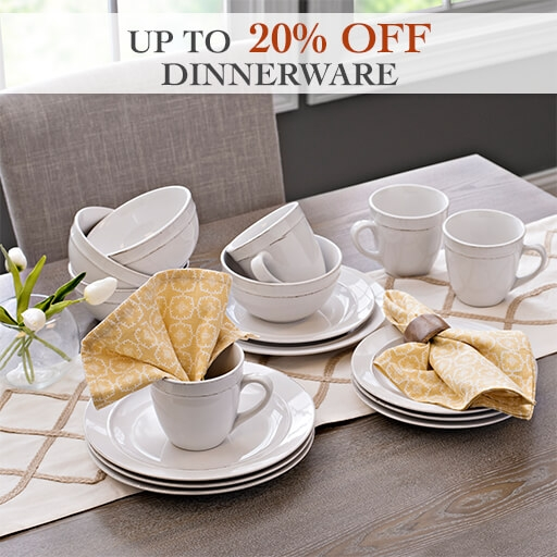 Up to 20% Off Dinnerware