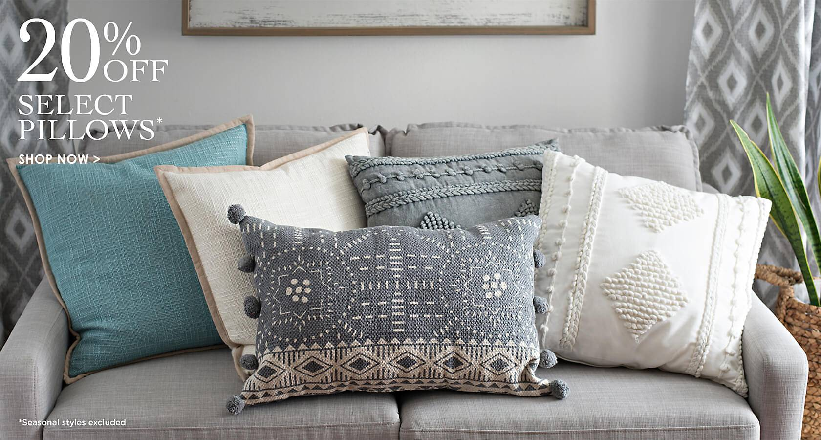 20% Off Select Pillows - Shop Now