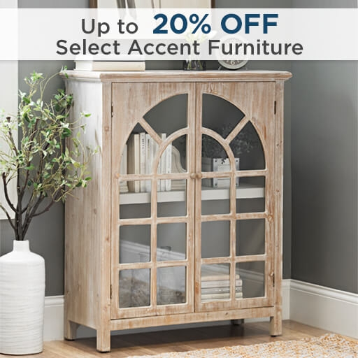 Up to 20% Off Select Accent Furniture