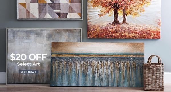 $20 Off Select Art - Shop Now